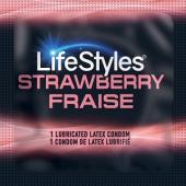 Презервативы LifeStyles Strawberry (ароматизированные)