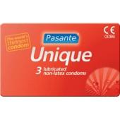 Презервативы Pasante Unique Non-Latex 3 шт.